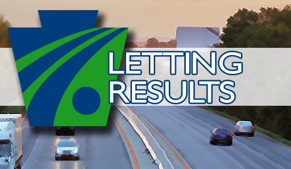 November 7 – PennDOT Letting Results