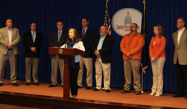 APC Member – Stacy Chatley Urges Work Zone Safety at Press Event
