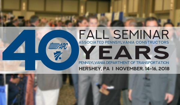 APC/PENNDOT Fall Seminar – Register Now!