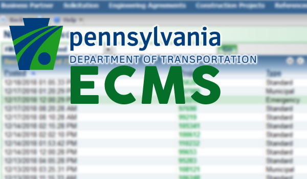 Check ECMS for Updated Let Schedule